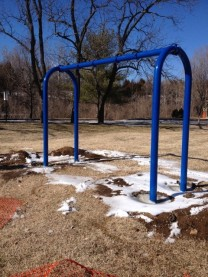 Playground and swing is being installed for persons 8 years and up for use, while the younger children have the playground designed for ages 2 to 13 years of age.