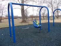 A new swing in our second play area for persons with disabilities, you can now swing while being safely secured