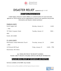 American Red Cross Disaster Relief flyer 1